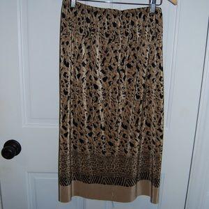 Vintage Animal Print pleated skirt